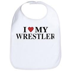 Love My Wrestler Bib