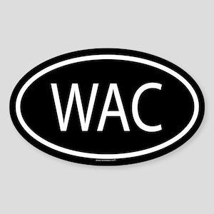 WAC Oval Sticker