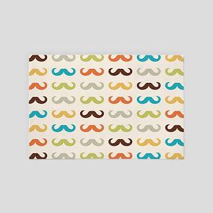 Mustache Pattern 4' x 6' Rug