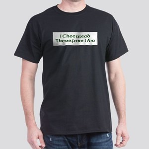 I Cheerlead Therefore I Am Dark T-Shirt