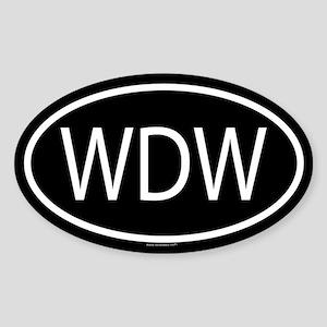 WDW Oval Sticker