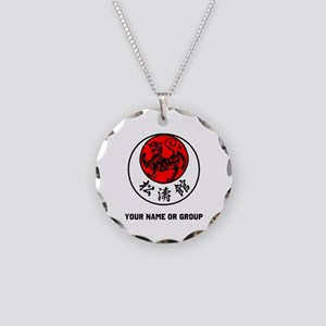 SHOTOKAN PERSONALIZED RISING Necklace Circle Charm