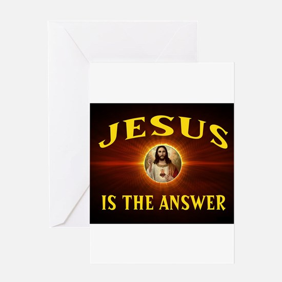 JESUS THE ANSWER Greeting Cards