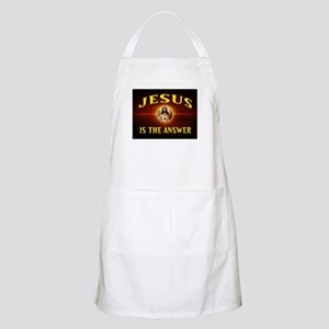 JESUS THE ANSWER Light Apron