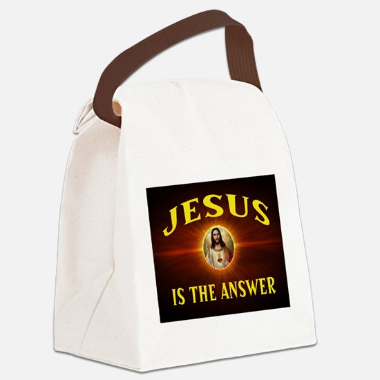 JESUS THE ANSWER Canvas Lunch Bag