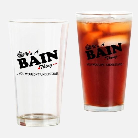 Cute Bain Drinking Glass