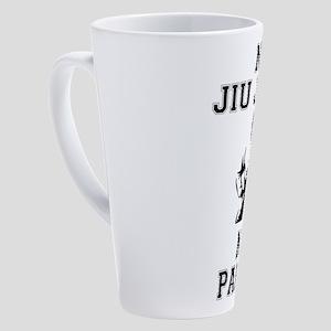 NO JIU JITSU NO PARTY 17 oz Latte Mug