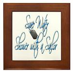 Shower with a Sailor Framed Tile
