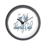 Shower with a Sailor Wall Clock