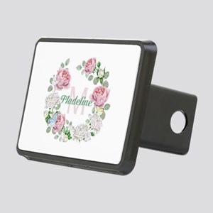 Rose Butterfly Floral Monogram Hitch Cover