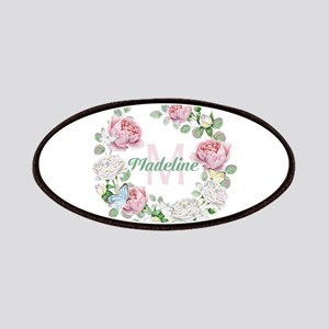 Rose Butterfly Floral Monogram Patch
