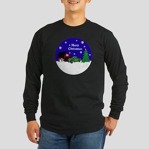 Classic Truck Christmas Long Sleeve Dark T-Shirt