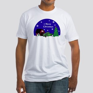 Classic Truck Christmas Fitted T-Shirt