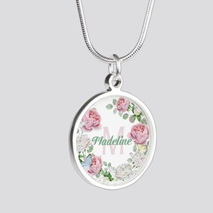 Rose Butterfly Floral Monogram Necklaces