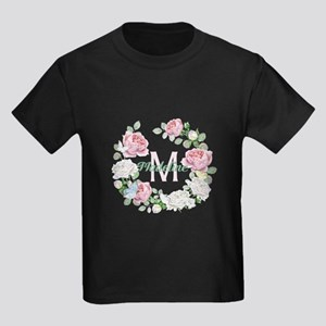 Rose Butterfly Floral Monogram T-Shirt