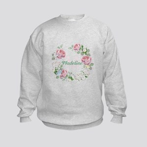 Rose Butterfly Floral Monogram Sweatshirt
