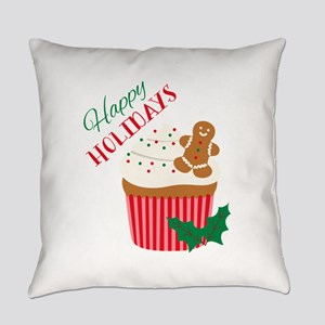 Happy Holidays Everyday Pillow