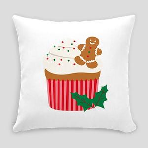 Christmas Cupcake Everyday Pillow