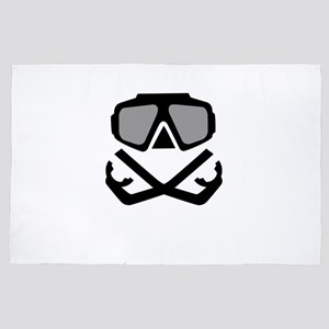 Scuba Diving 4' x 6' Rug