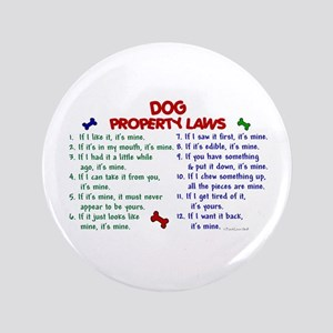 "Dog Property Laws 2 3.5"" Button"