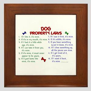 Dog Property Laws 2 Framed Tile