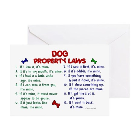 Dog Property Laws 2 Greeting Cards (Pk of 10)