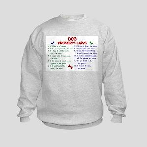 Dog Property Laws 2 Kids Sweatshirt
