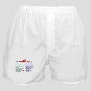 Dog Property Laws 2 Boxer Shorts