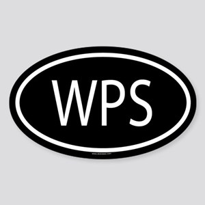 WPS Oval Sticker