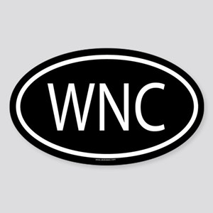 WNC Oval Sticker