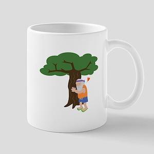 Tree Hugger Man Mugs