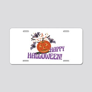 Happy Halloween Motif Aluminum License Plate