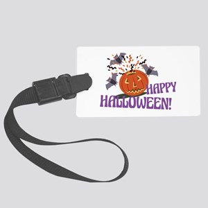 Happy Halloween Motif Luggage Tag