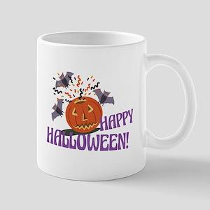 Happy Halloween Motif Mugs