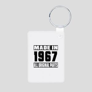 Made In 1967 Aluminum Photo Keychain