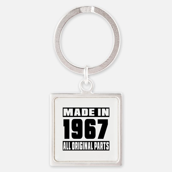 Made In 1967 Square Keychain
