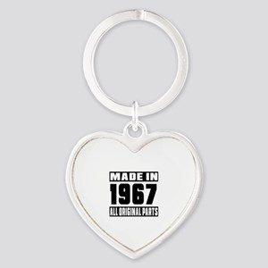 Made In 1967 Heart Keychain
