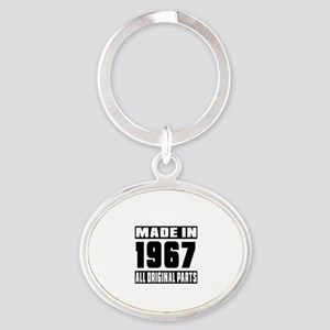 Made In 1967 Oval Keychain