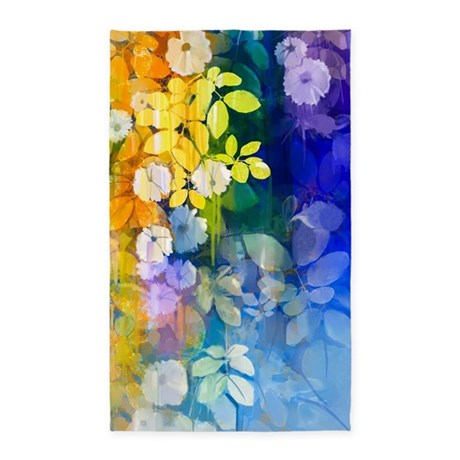 Colorful Floral Area Rug