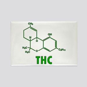 THC Molecule Rectangle Magnet