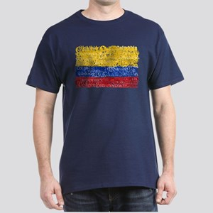 Textual Colombia Dark T-Shirt