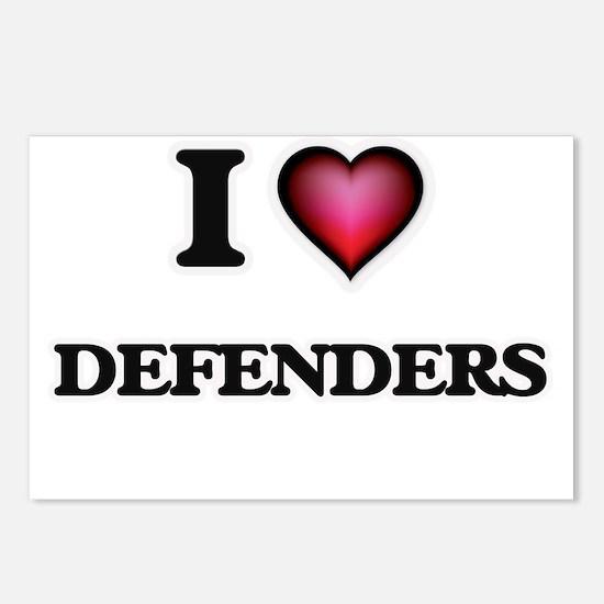 I love Defenders Postcards (Package of 8)