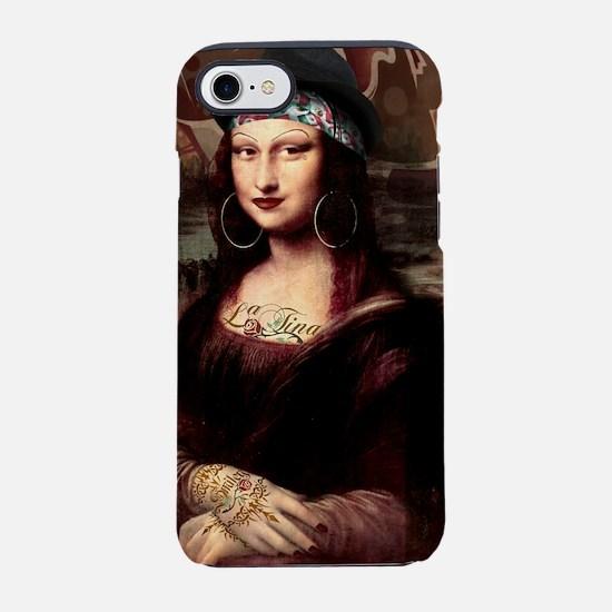 La Chola Mona Lisa Wearing H iPhone 8/7 Tough Case
