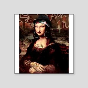 La Chola Mona Lisa Wearing Hat Sticker