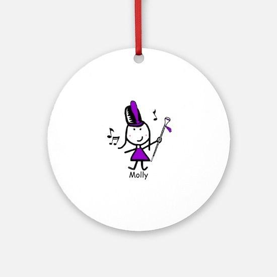 Drum Major - Molly Ornament (Round)