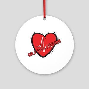 Cardiac Rhythm Ornament (Round)