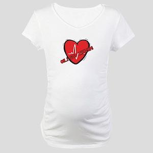 Cardiac Rhythm Maternity T-Shirt