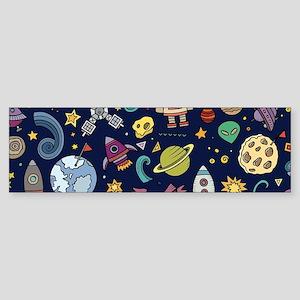 Cartoon Space Explorer Birthday Kid Bumper Sticker