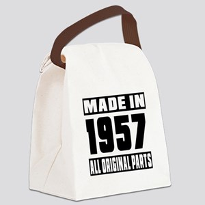 Made In 1957 Canvas Lunch Bag