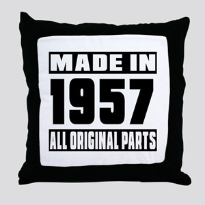 Made In 1957 Throw Pillow